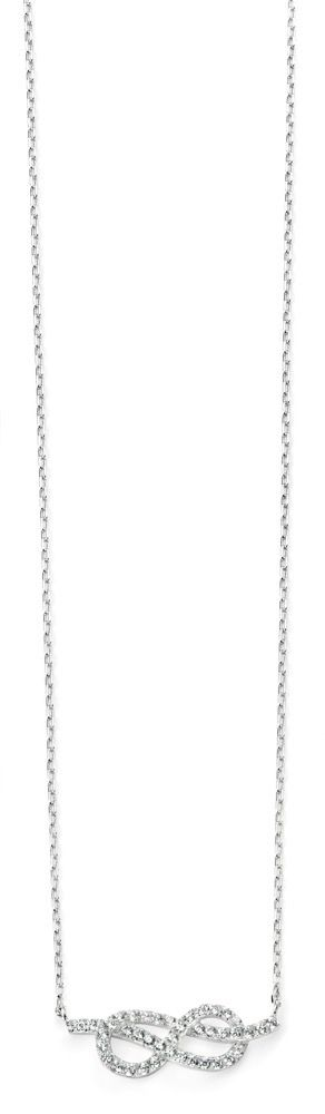 Elements Silver Cubic Zirconia Infinity Necklace N3741C