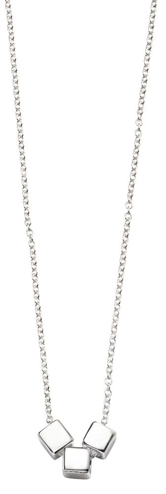 Elements Silver Triple Cube Slider Necklace N4084