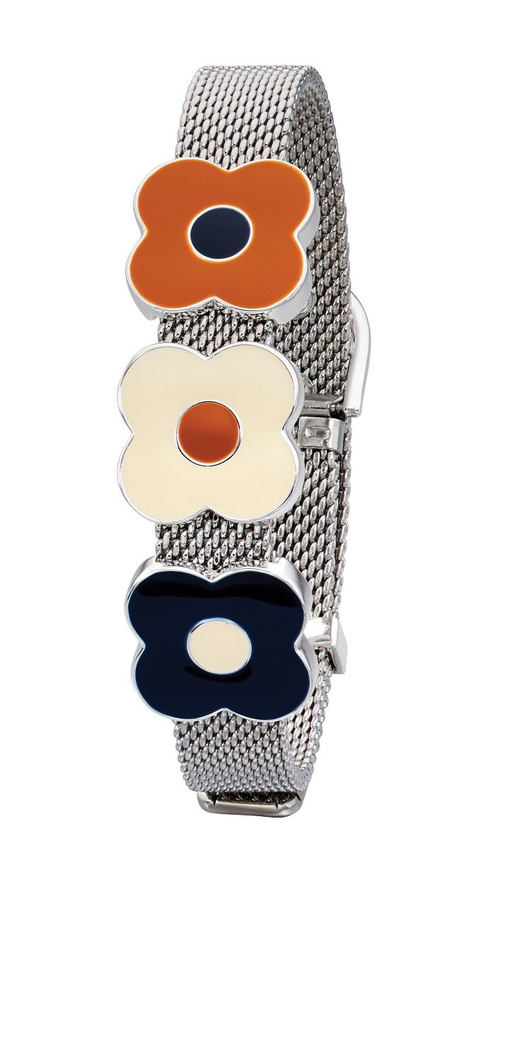Orla Kiely Silver Plated Adjustable Bracelet B4989 & Orla Kiely Silver Plated Adjustable Bracelet | Wearitboutique