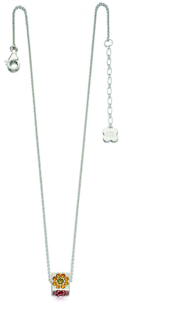 Orla Kiely  Sterling Silver Swarovksi Crystal Cube Necklace N4036 & Orla Kiely  Sterling Silver Swarovksi Crystal Cube Necklace | Wearitboutique